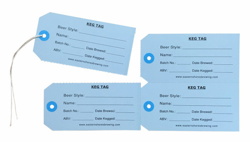 Keg Identification Tags for Draft Beer