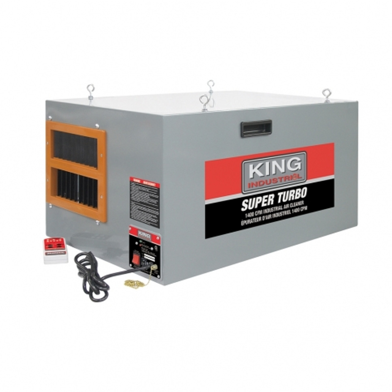 King Industrial Air Cleaner with Remote Control (KAC-1400)