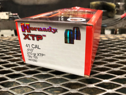 "Hornady 41CAL 210gr XTP (.410"") 100ct/box  (Projectile Only)"