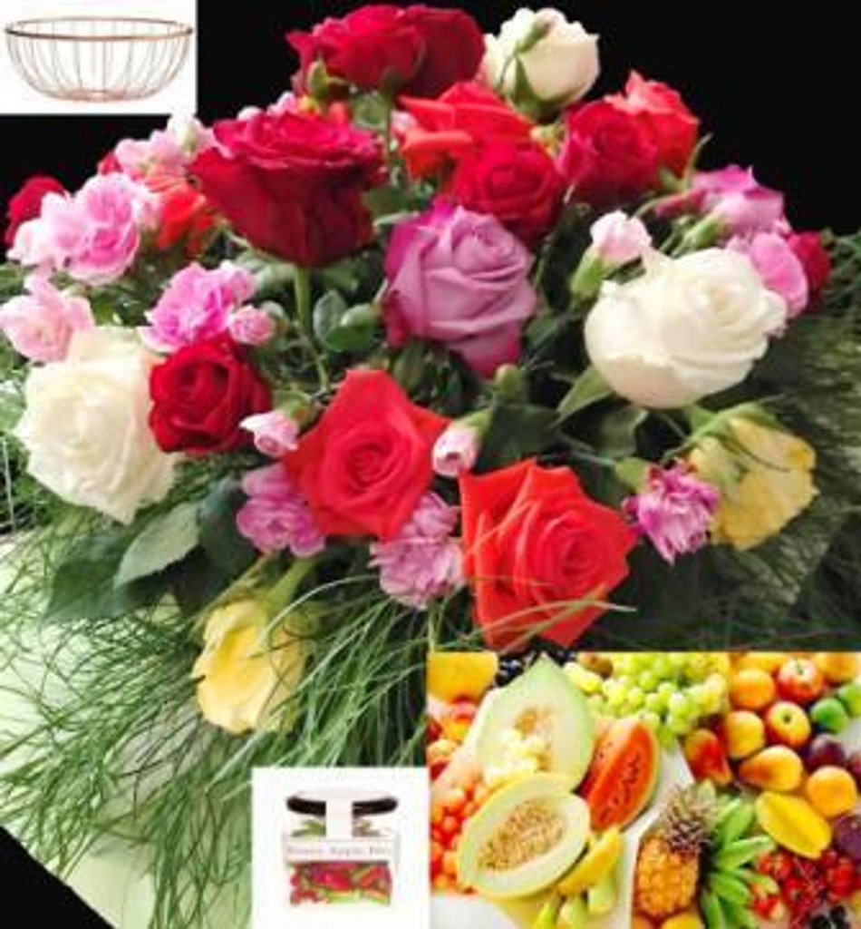 88819 RBFF4 Fruit Candy & Flowers - Sydney Delivery Only