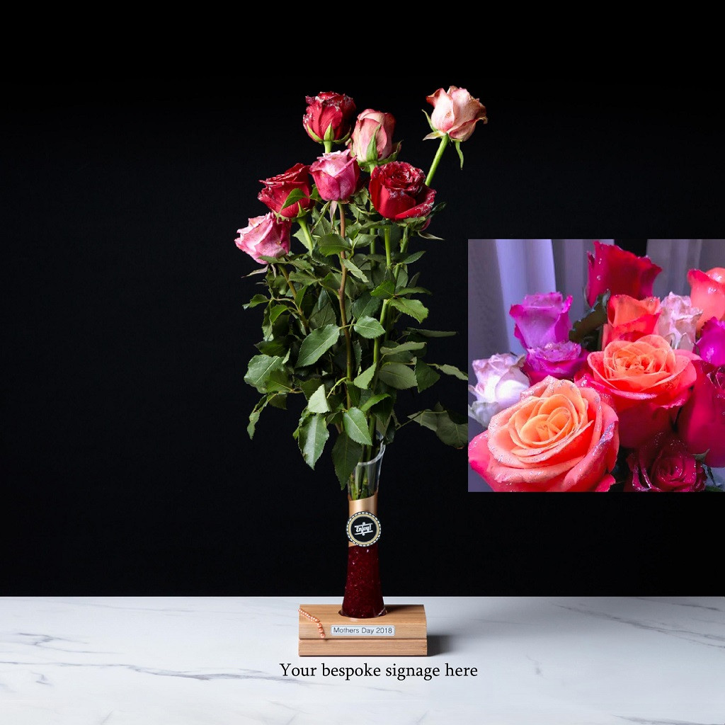 88819 RBSV      Long stemmed Roses - Personalised Gift