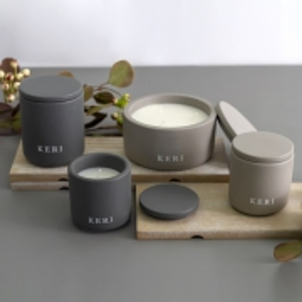 Soft Linen Scented Candle Ceramic Pot