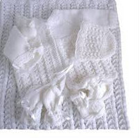 718 KNJ Hand Knitted Baby Matinee Jacket