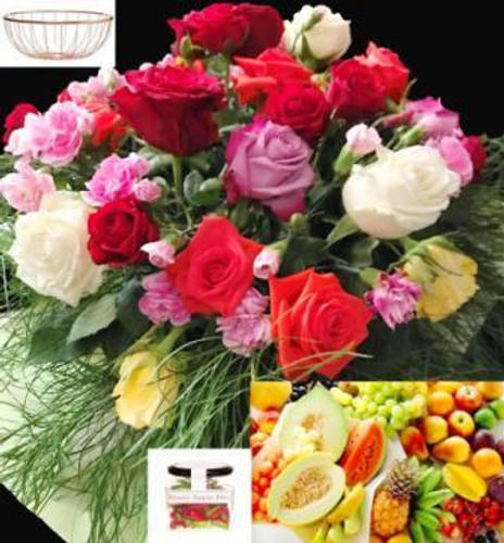 618 RBFF4 Fruit Candy & Flowers - Sydney Delivery Only. Delivery included