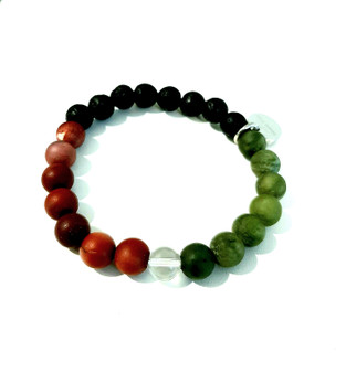 green jade & red australian mookaite jaspers vibrational energies will ready you for an adventure with luck