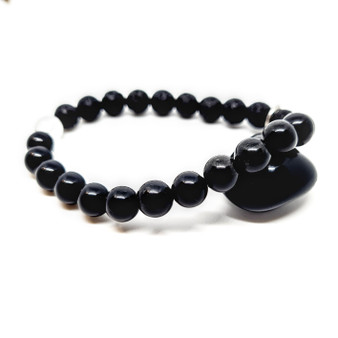 Black Obsidian Aromatherapy Calming Oil Diffusing Bracelet