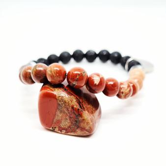 Red Jasper Aromatherapy Bracelet