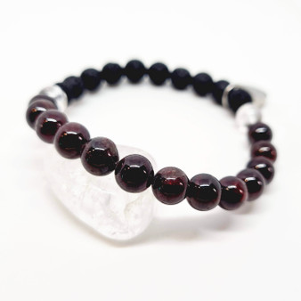 Garnet is a deep red crystal which shines best in light. Its' deep maroon colour appears near black at other times.  Garnets crystal energy is associated with improving metabolism, immunity to colds and flu's, libido, circulation, gallstones as well as being known to assist with pain during child birth & menstruation.  Garnet is a stone of emotionally supportive energy, helpful if you have emotional vampires around draining your energy. Garnet is said to provide some emotional protection from negativity. It can help for periods of bereavement also.  Place your Garnet over your heart and remember with love those who have moved on.  Zodiacs: Capricorn & Aquarius  Chakras: Root & Heart  Match with our Aromatherapy Oil: Blue Howlite - Patience