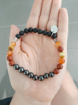 Custom Crystal Aromatherapy Bracelet