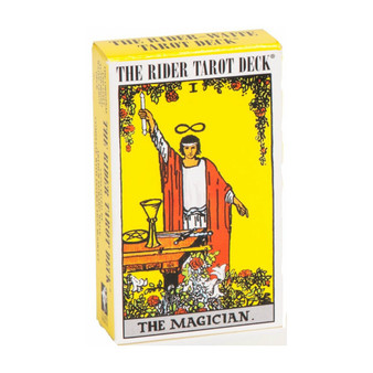 In 1909, artist Pamela Colman Smith, under the direction of Arthur Edward Waite, created an innovative 78-card tarot deck that would come to be recognized as revolutionary. With descriptive pictures on the 56 minor Arcana cards, the Rider-Waite deck digressed from the tradition of tarot decks used for centuries and set the standard for nearly every tarot deck published.    Product Features:  78 Carot card deck Descriptive pictures on the 56 minor Arcana cards     Deck is unsealed with instructions