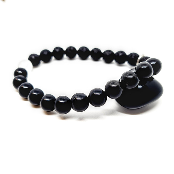 Black Obsidian Aromatherapy Calming Oil Diffusing Bracelet