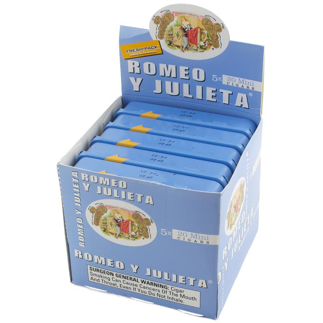 Romeo Y Julieta 1875 Mini Blue Mild Tins