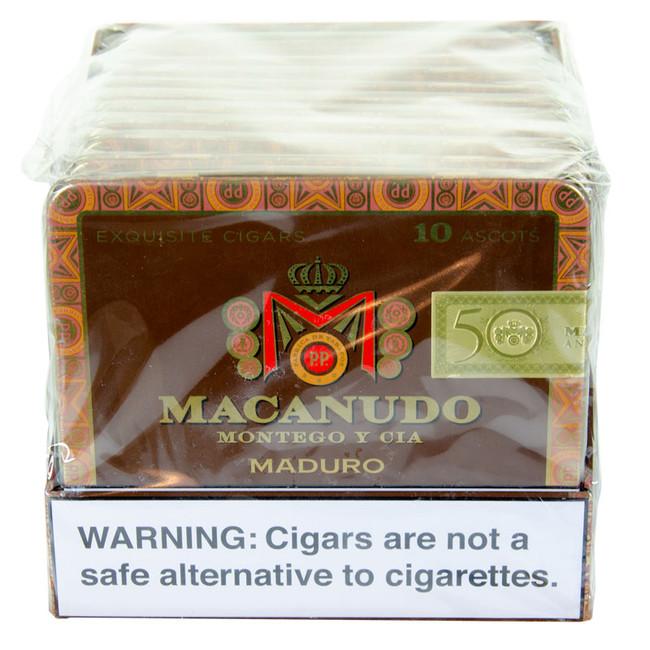 Macanudo Maduro Ascots Tins