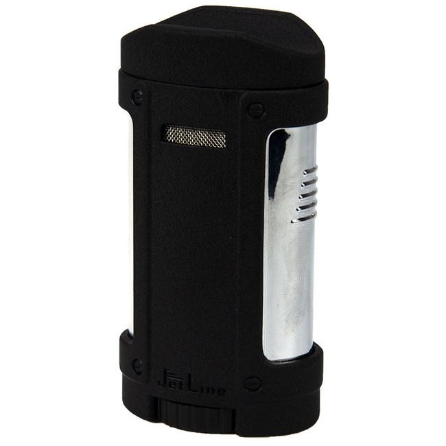JetLine Bugle Master Quad Torch Lighter Black
