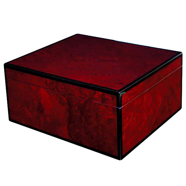 MERGER II 50-Count Red Burl Humidor