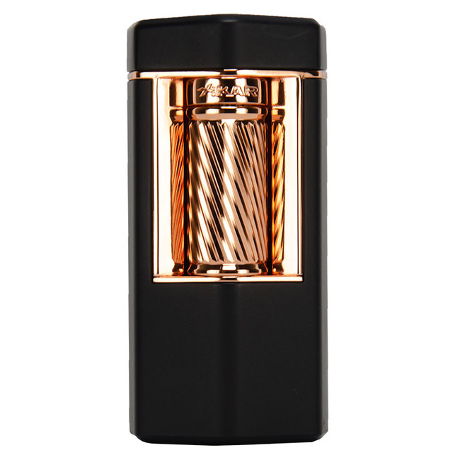 Xikar Meridian Triple Soft Flame Flint Lighter Black & Rose Gold
