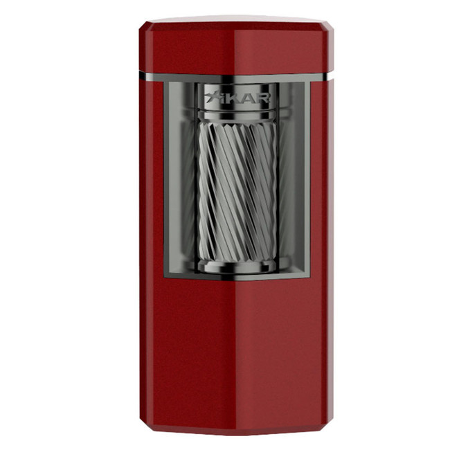 Xikar Meridian Triple Soft Flame Flint Lighter Red & Gunmetal