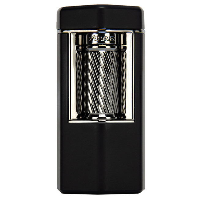 Xikar Meridian Triple Soft Flame Flint Lighter Black & Gunmetal