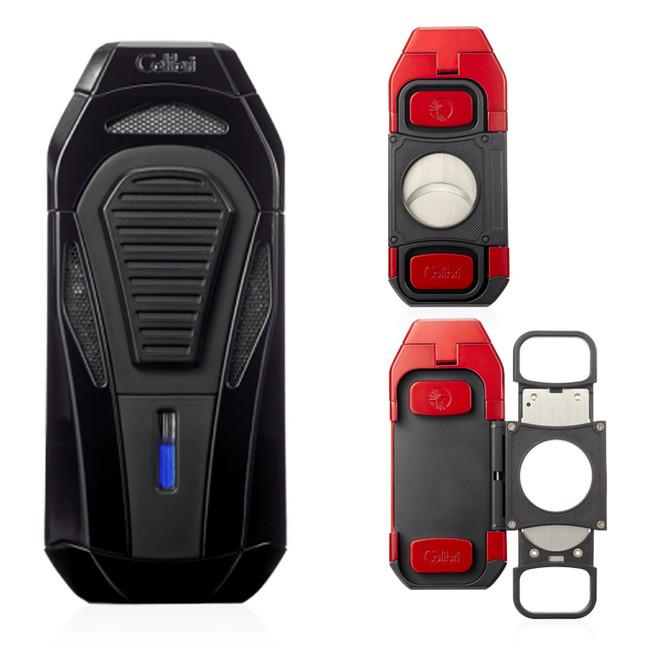 Colibri Boss Triple Jet Lighter & Cutter (Black)