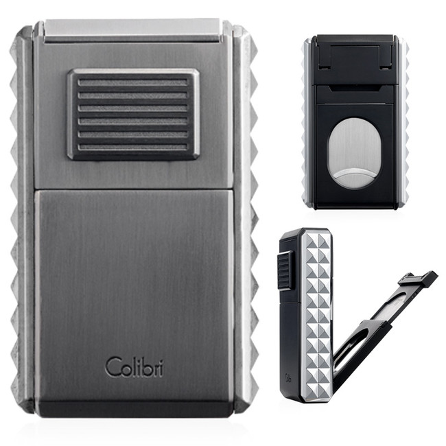 Colibri Quasar Astoria Triple Jet Lighter & Cutter (Gunmetal)