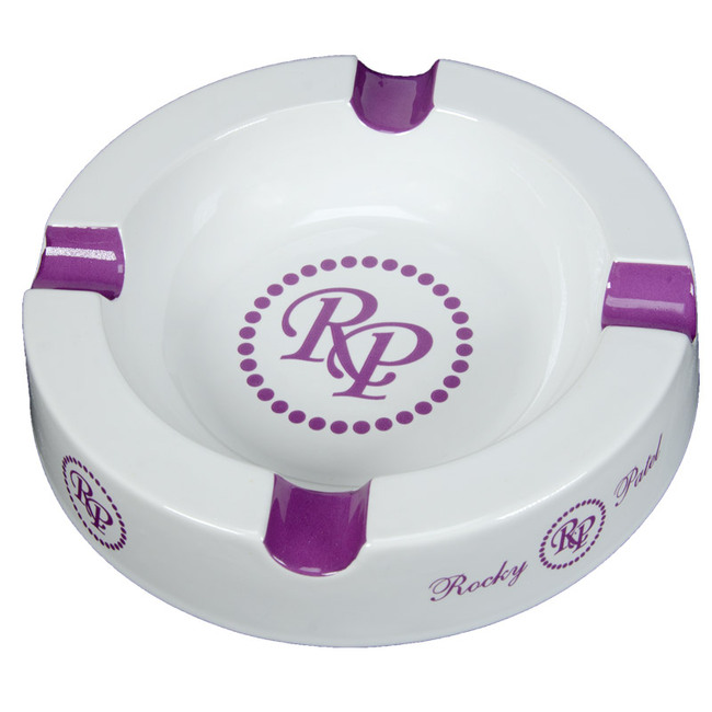Rocky Patel Round Logo Purple Ashtray