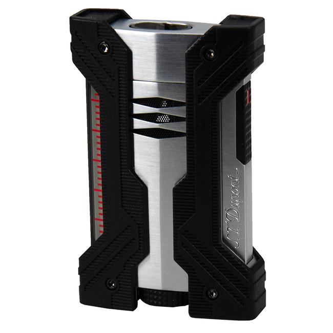 S.T. Dupont Defi XXtreme Double Torch Lighter Black & Chrome