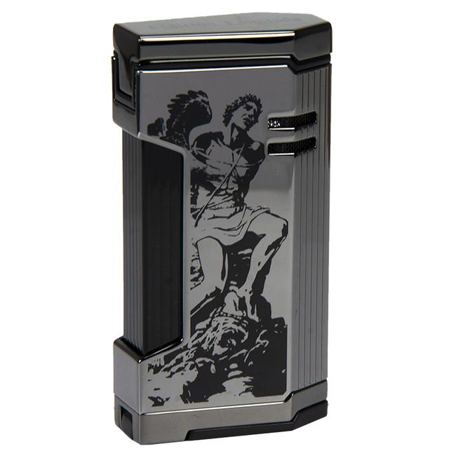 Prometheus GOF Shiny Gun Metal Magma X Lighters (XP6)