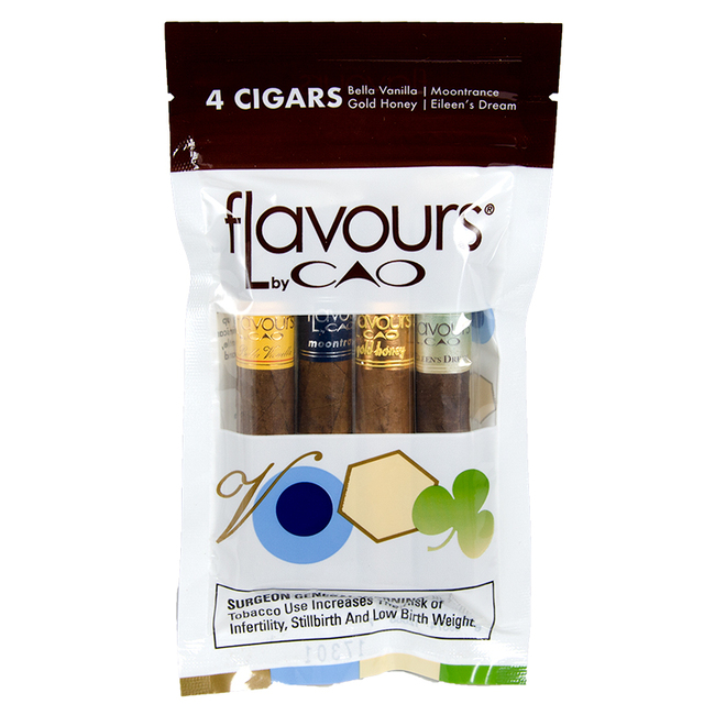 CAO Flavours Sampler II 4-Pack Petit Corona 1/4