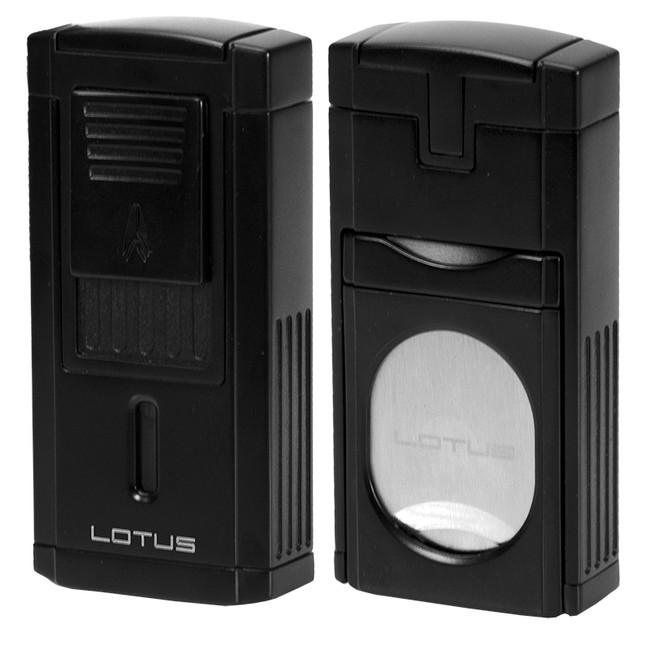 Lotus Duke Triple Torch Lighter & Cutter - Black Matte