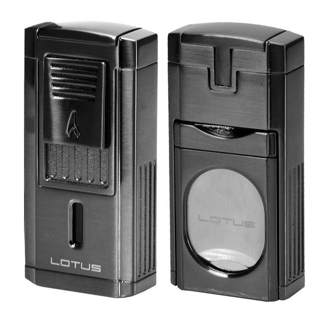 Lotus Duke Triple Torch Lighter & Cutter - Gunmetal