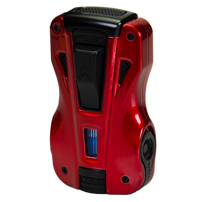 Lotus GT Twin Torch Lighter & Cutter - Red/Black