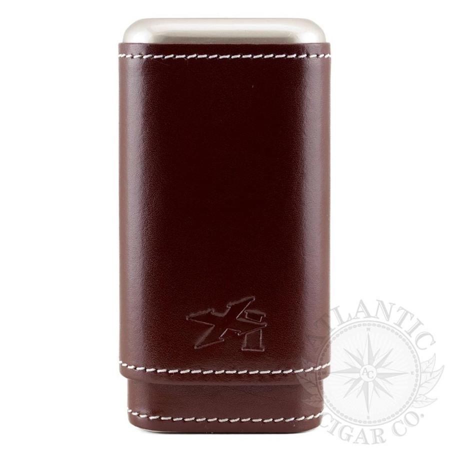 Xikar Envoy Cognac Leather 3 Count Cigar Case