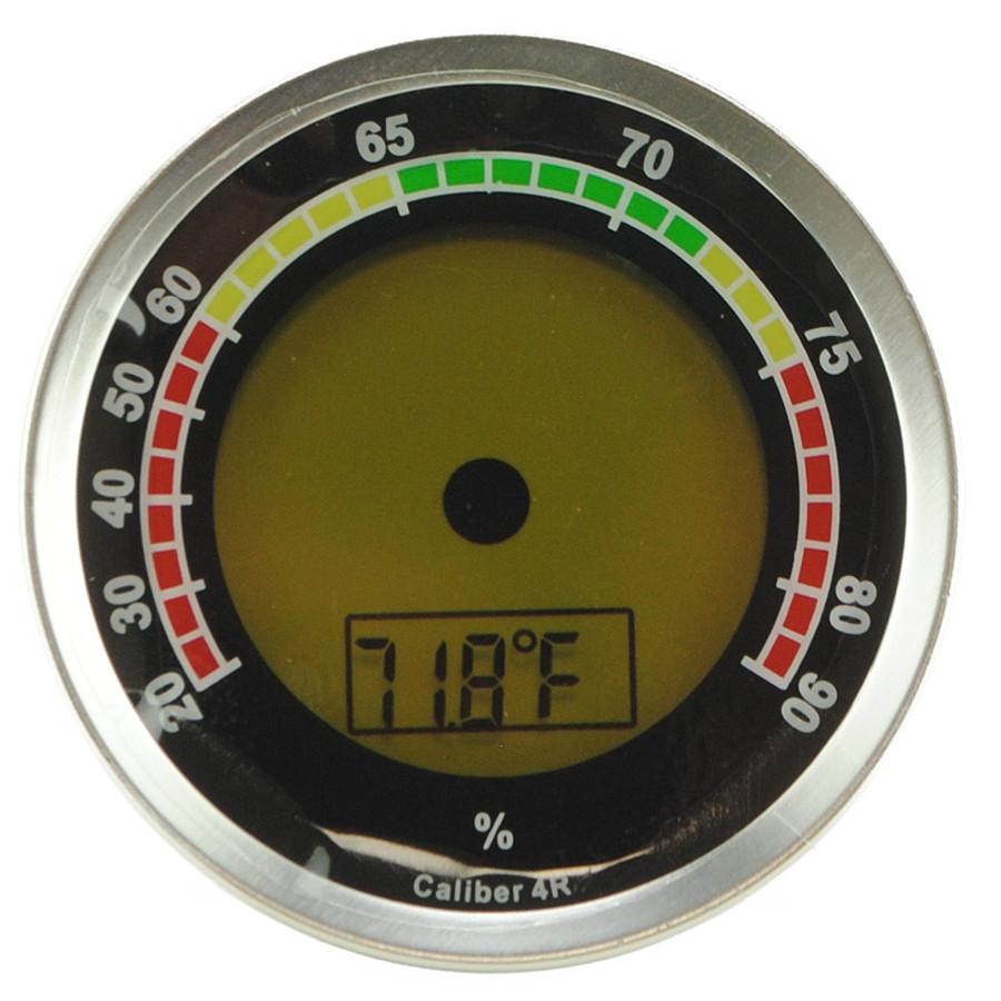 Cigar Oasis Caliber 4R Silver Digital Hygrometer