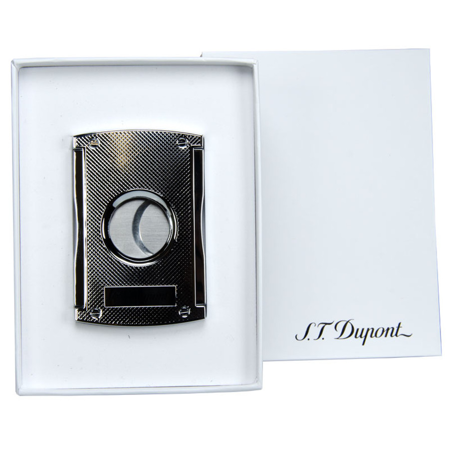 S.T. Dupont Maxi Jet Double Blade Cutter Cutter Chrome Grid