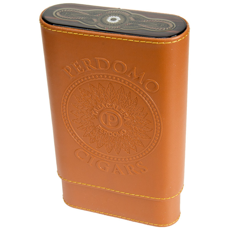 Perdomo Tan Leather Cigar Case
