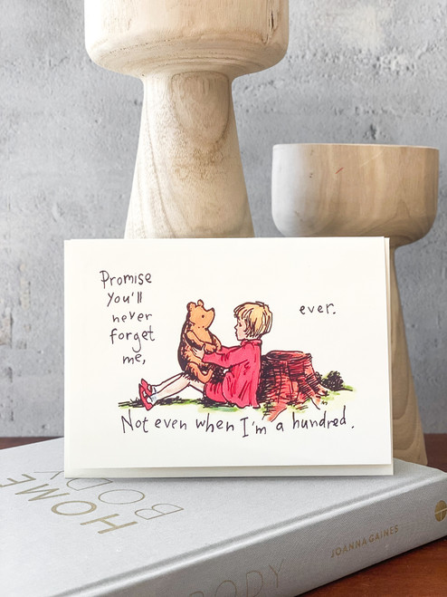 Even When I'm Hundred Pooh Card