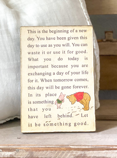 New Day  Pooh Art Tablet