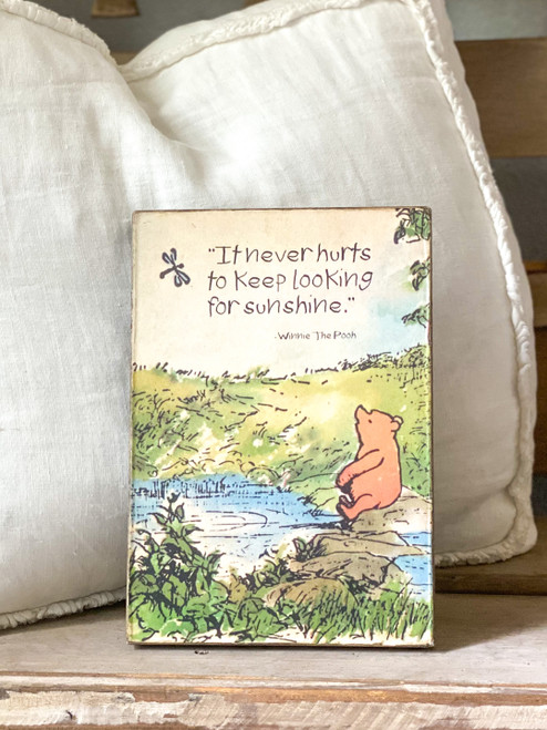 Keep Looking  Pooh Art Tablet front
