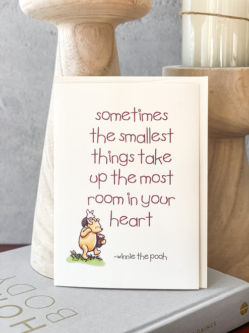 Smallest Things Pooh Card