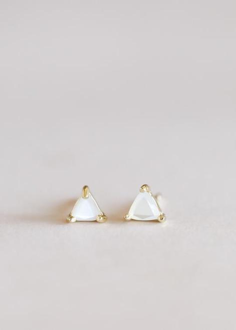 Mini Energy Gem Earrings | Mother of Pearl