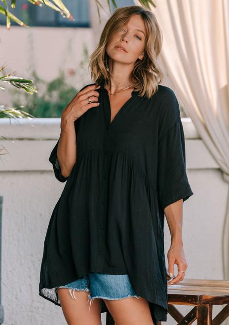 Short Sleeve Tunic | Black