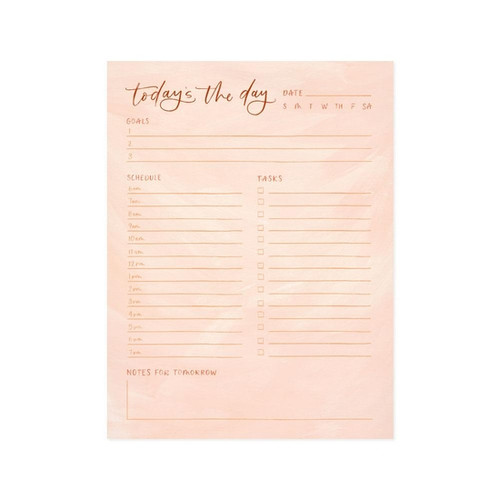 Peach Today's The Day Notepad