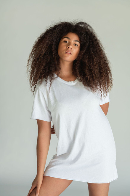 Zepplin Tee Dress | White