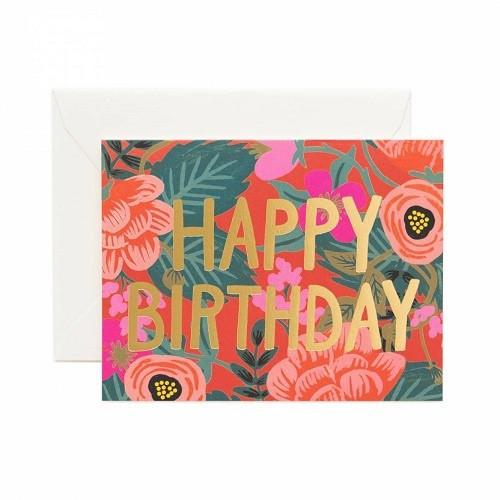 Poppy Birthday Card