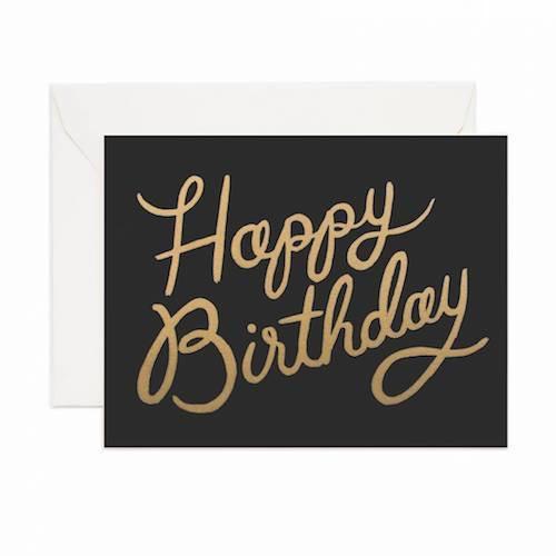 Shimmering Birthday Card