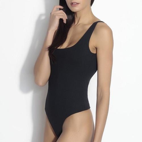 Low Back Bodysuit | Black