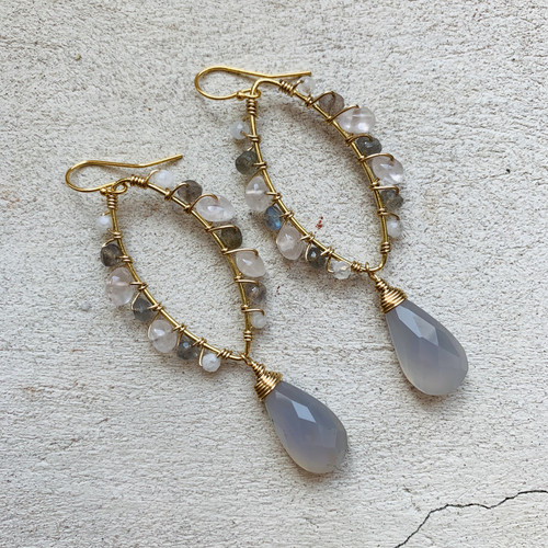 Candy Collection | Chalcedony & Labradorite Earrings