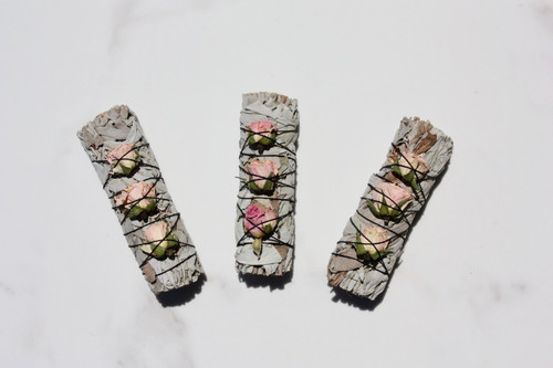 White Sage + Rosebuds Bundle