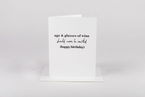 Age & Wine birthday Card