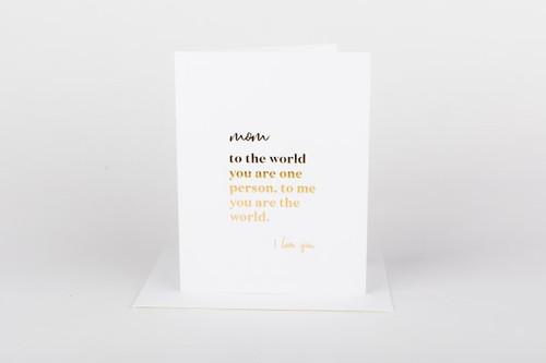 Mom The Whole World Card